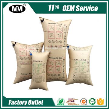 Shipping Containers Kraft Paper PP Woven printing paper dunnage air bag