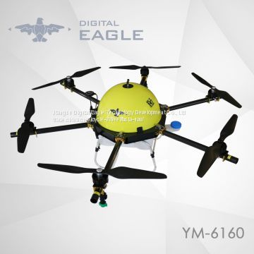 Multi rotor automatic unmanned uav 6 axis 15L agricultural drone