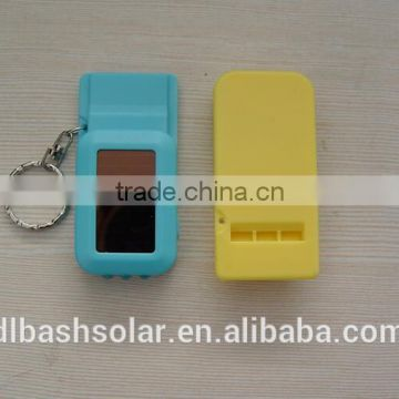 Solar power flashing USB keychain mini usb 5v 750ma charger