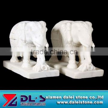 White Elephant Marble Sculpture
