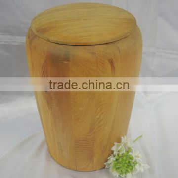 2016 New Modle round wooden urns for ashes with lid cover