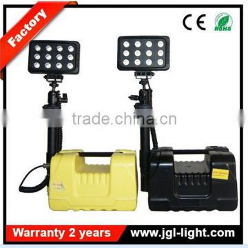 factory direct railway search light 36w rechargeable led work light