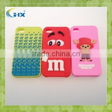3d cartoon silicone phone case for iphone