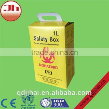 Safety box, sharp container disposal of used syringes &needles, 5L