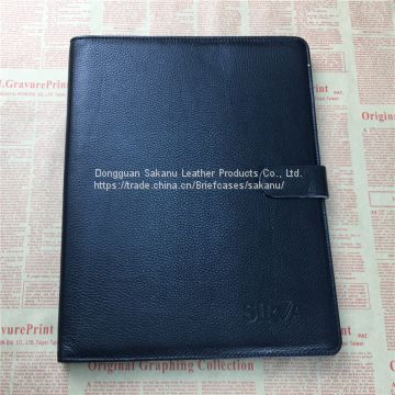 custom A4 PU leather portfolio file folder