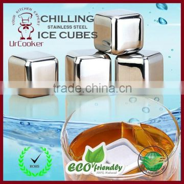 stainless steel ice cube for wine