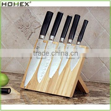Magnetic Bamboo Knife Holder Stand/Modern Knife Organizer/Homex_FSC/BSCI Factory