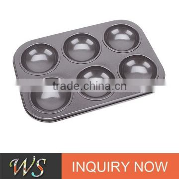 6 Cups Non-stick Carbon Steel Cookie Mold
