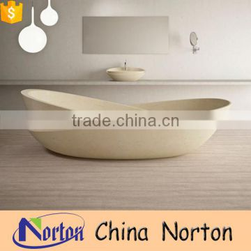 Modern design natural Henan yellow ferry shaped bathroom sink for sale NTS-BA015L