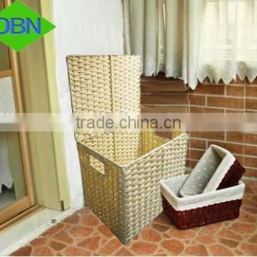 Cheap woven plastic storage box with lid