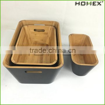 Bamboo Stacking Storage Boxes Kitchen Storage Boxes Homex BSCI/Factory