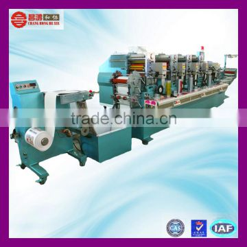 CH-300 vinyl wall sticker 6 color rotary label printing machine for sale