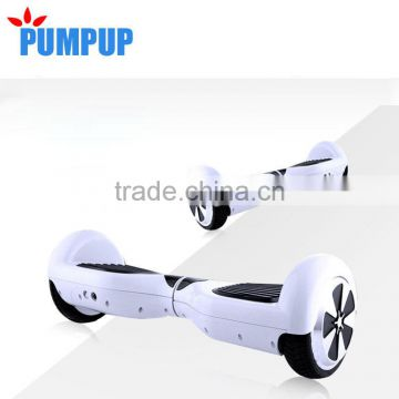 6.5 inch self balancing two wheeler electric scooter with samsung battery, bluetooth