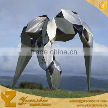 outdoor garden stainless steel morden abstract sculpture for decoration