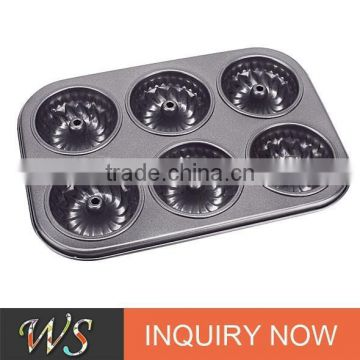 6 Cups Non-stick Carbon Steel Baking Molds