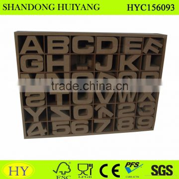 Wholesale cheap unfinished MDF art minds wood carving letters