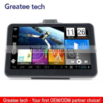 7.0 inch tablet Android gps navigator system dual carmera dvr recorder optional
