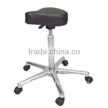 Potable movable Ottoman stool chair saddle chair with wheels used salon furniture F-506