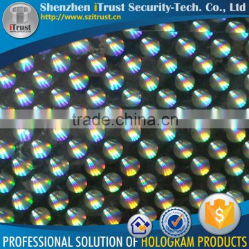 Trade Assurance PET / BOPP golden / silver 2D hologram film laser foil