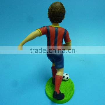 Custom football figure,OEM plastic football figures big head, Custom plastic football player figure