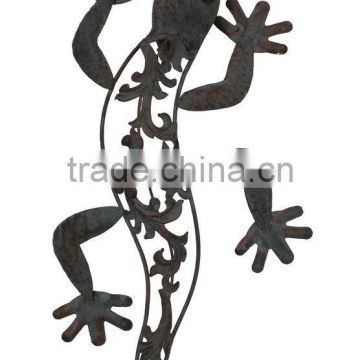 Metal Gecko Decoration