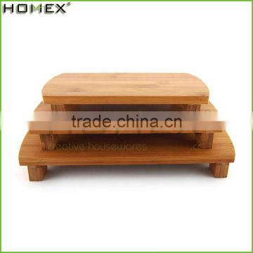 New Design Round Bamboo Serving Dishes/Bamboo Sushi Serving Plate/Homex_Factory