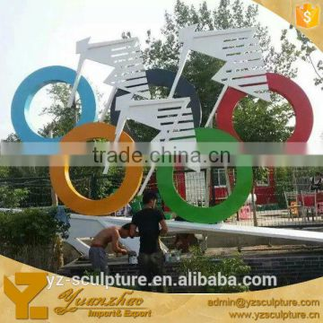 outdoor large stainless steel boat sculpture hot sale