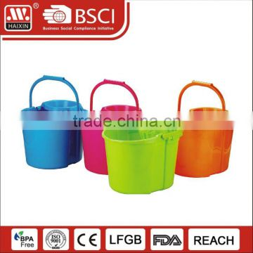 Cleaning Eco-Friendly floor cleaning flat microfiber magic mop squeeze plastic mop bucket wringer trolley with wheels