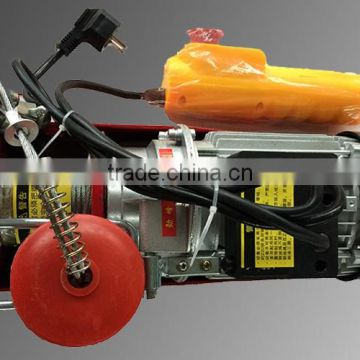 electric rope pulley hoist/wire rope pulling electric winch