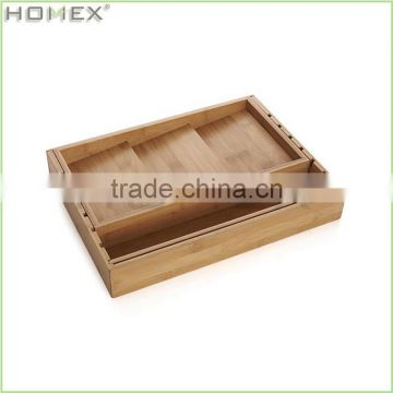 Large Silverware Tray/Bamboo Utensil Holder/Homex_BSCI