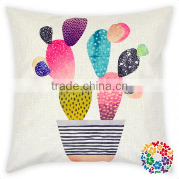 Airline Pillow Cover Canvas Pillow Covers Wholesale Cactus Pillow Cover Cushion