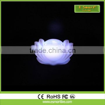 Waterproof lotus led flower light for pool decoration light upflower pot