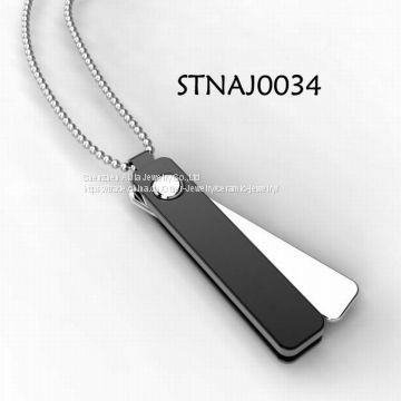 316 Stainless Steel Jewelry Heavy Metal Pendant Necklace