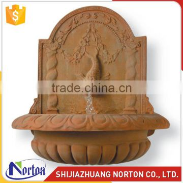 Yellow marble dolphin water wall fountain NTMF-023LI