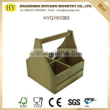High quality unfinished wooden wine rack