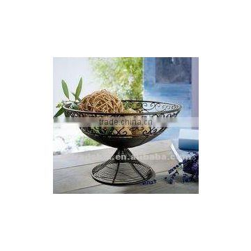 decoration metal fruit holder with stand