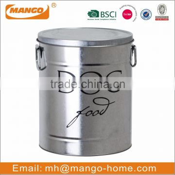 metal Pet food Canister