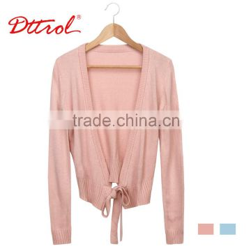 D006198 Dttrol dance knitted garment long sleeve tops wholesale shrug designs for women coat
