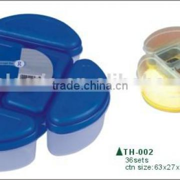 Plastic mini combine storage bento lunch box and food containers