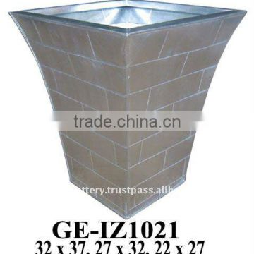 AAG Galvanized zinc vase,Galvanized zinc watering can , Zinc Pot Planter, zinc planter for gardening and household