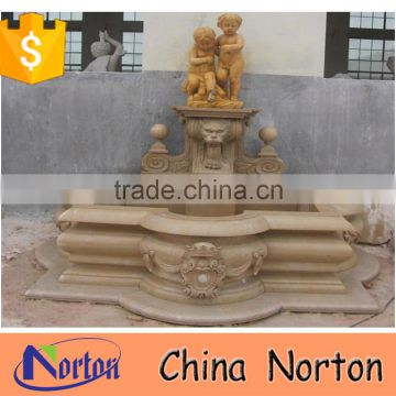 big marble wall water fountains with statue NTMF-S518S