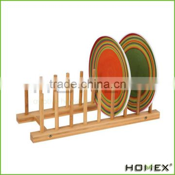 Bamboo Kitchen Dish / Plate / Bowl / Cup / Book / Pot Lid / Drying Rack Stand Drainer Storage Holder Organizer/Homex_Factory