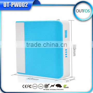 High capacity mirror powerbank 10400mah with mobile stand