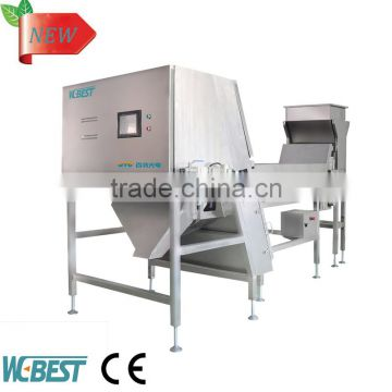 Opto-electronic color sorting machine use for sorting quartz sand/mineral/monosodium glutamate/white
