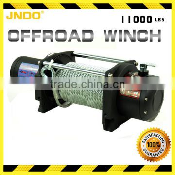 Heavy duty 4990kg/11000lbs electric winch with oil-impregnated shaft bushings