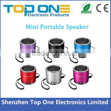 Multi-function portable mini speaker supports FM/ TF Card/ USB/ 3.5mm jack audio device
