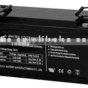 vrla battery 12v 150ah for electric vehicle use