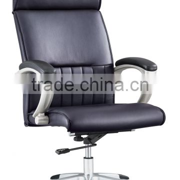 High back leather comfortable air conditioned office chair