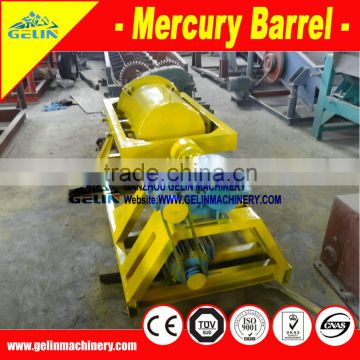 Gold amalgamation machine with mercury used for refine the gold ore