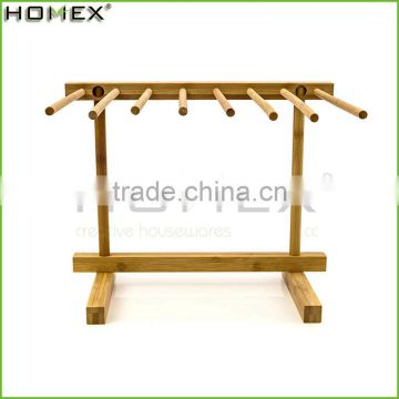 Bamboo spaghetti dryer stand pasta drying rack Homex BSCI/Factory